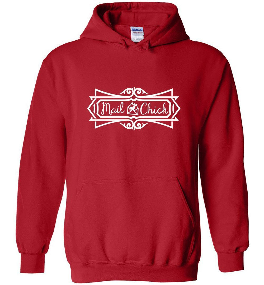 Postal Worker Tees Hoodies Red / S Mail Chick with letter Hoodie