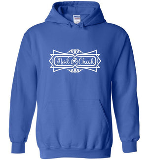 Postal Worker Tees Hoodies Royal Blue / S Mail Chick with letter Hoodie