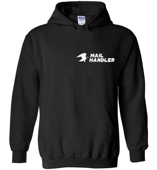 Postal Worker Tees Hoodies Black / S Mailhandler left chest design Hoodie
