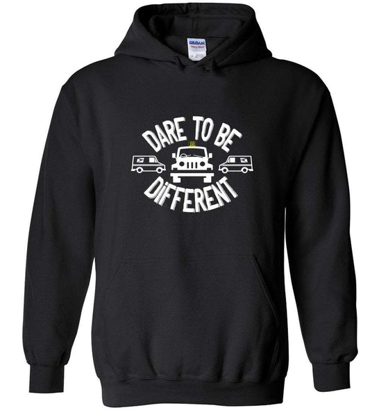 Postal Worker Tees Hoodies Black / S Postal Jeep Dare to be different Hoodie