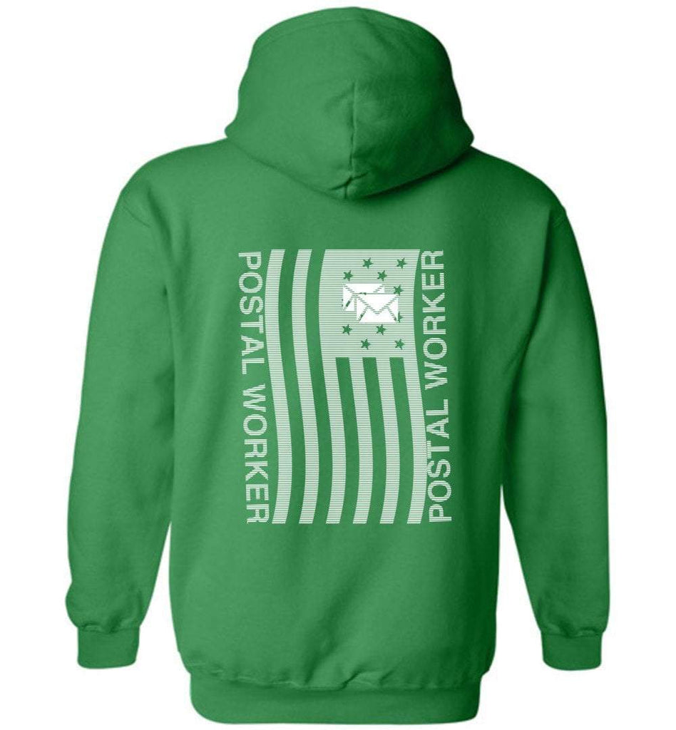 Postal Worker Tees Hoodies Irish Green / S Postal worker flag - back design Hoodie