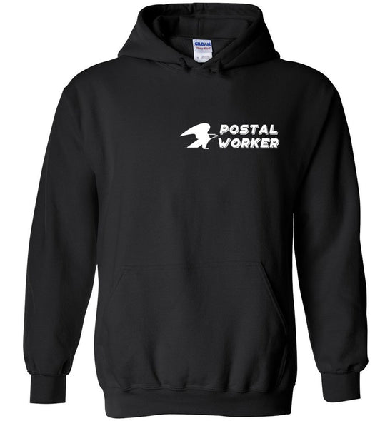 Postal Worker Tees Hoodies Black / S Postal Worker left chest eagle design Hoodie