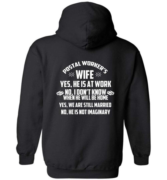 Postal Worker Tees Hoodies Black / S Postal worker's wife - back design Hoodie