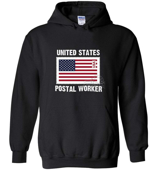 Postal Worker Tees Hoodies Black / S Postal Worker US Flag Hoodie