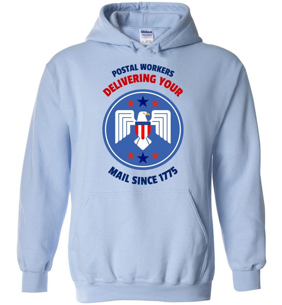 Postal Worker Tees Hoodies Light Blue / S Postal workers eagle delivering since 1775 Hoodie