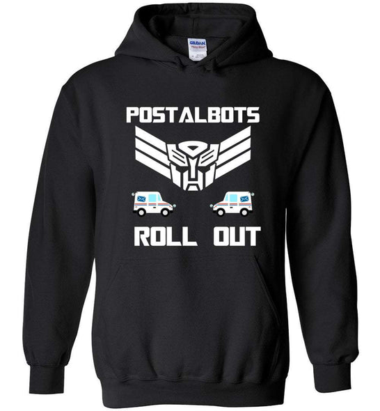 Postal Worker Tees Hoodies Black / S Postalbots roll out Hoodie