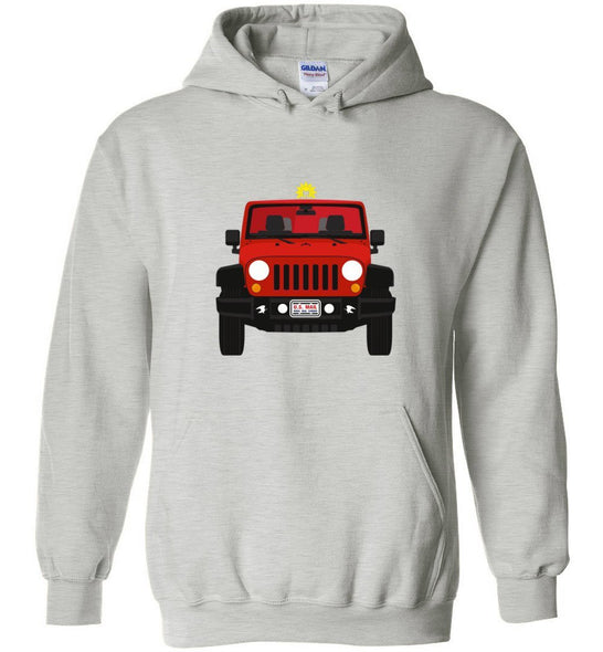 Postal Worker Tees Hoodies Ash / S Red Rural Carrier Mail Jeep Hoodie