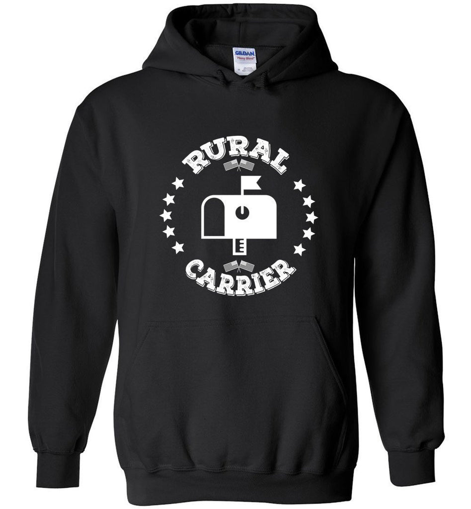 Postal Worker Tees Hoodies Black / S Rural Carrier Flags and Stars Hoodie