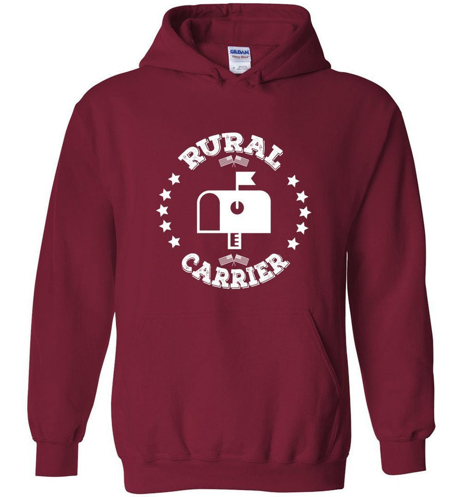 Postal Worker Tees Hoodies Cardinal Red / S Rural Carrier Flags and Stars Hoodie