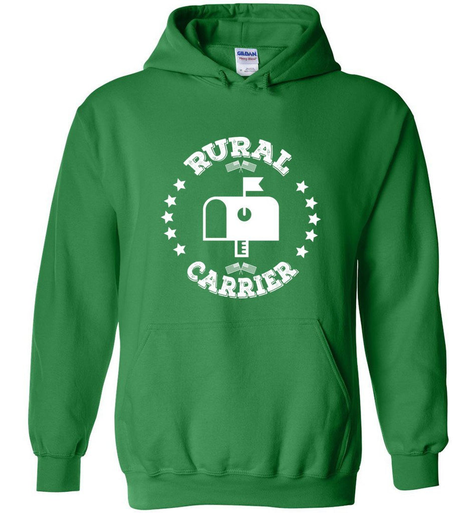 Postal Worker Tees Hoodies Irish Green / S Rural Carrier Flags and Stars Hoodie