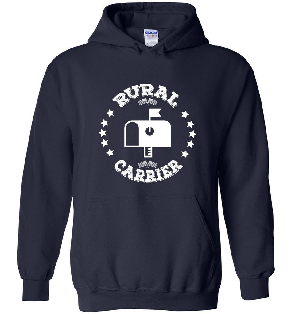 Postal Worker Tees Hoodies Navy / S Rural Carrier Flags and Stars Hoodie