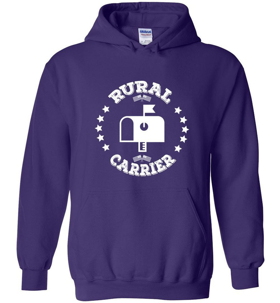 Postal Worker Tees Hoodies Purple / S Rural Carrier Flags and Stars Hoodie
