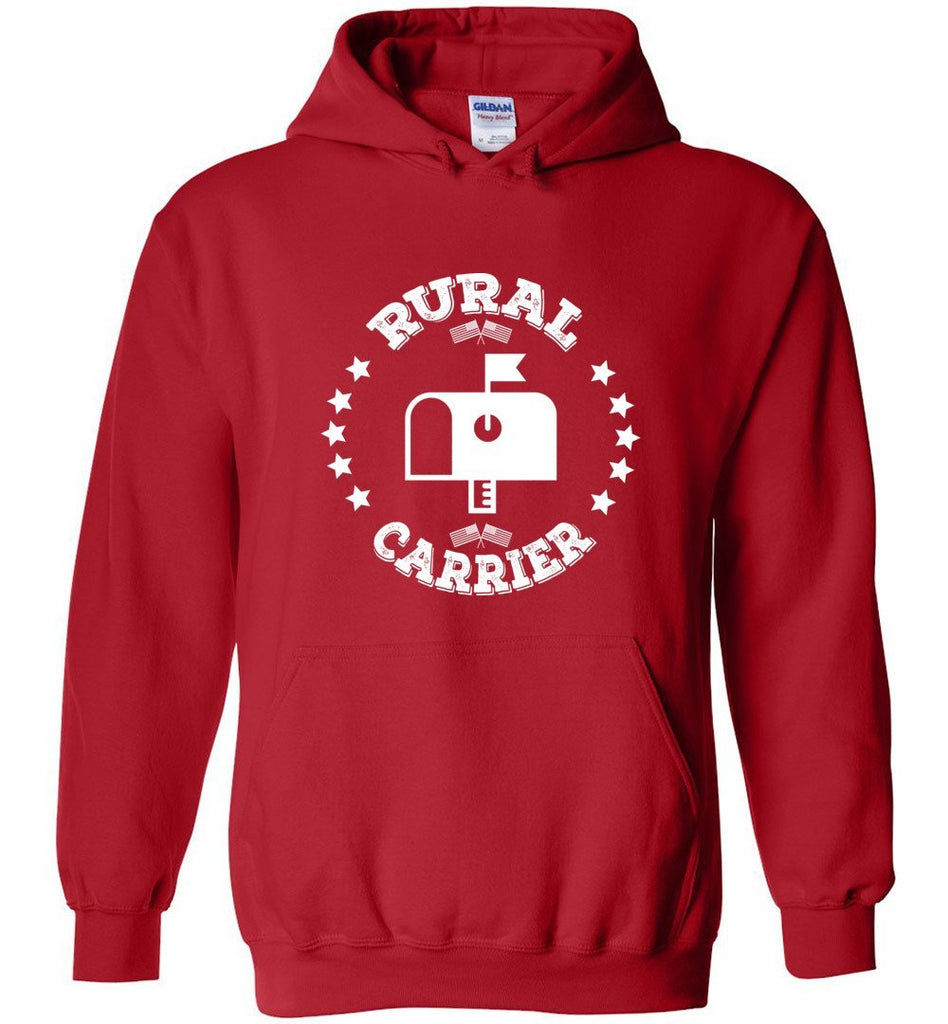Postal Worker Tees Hoodies Red / S Rural Carrier Flags and Stars Hoodie