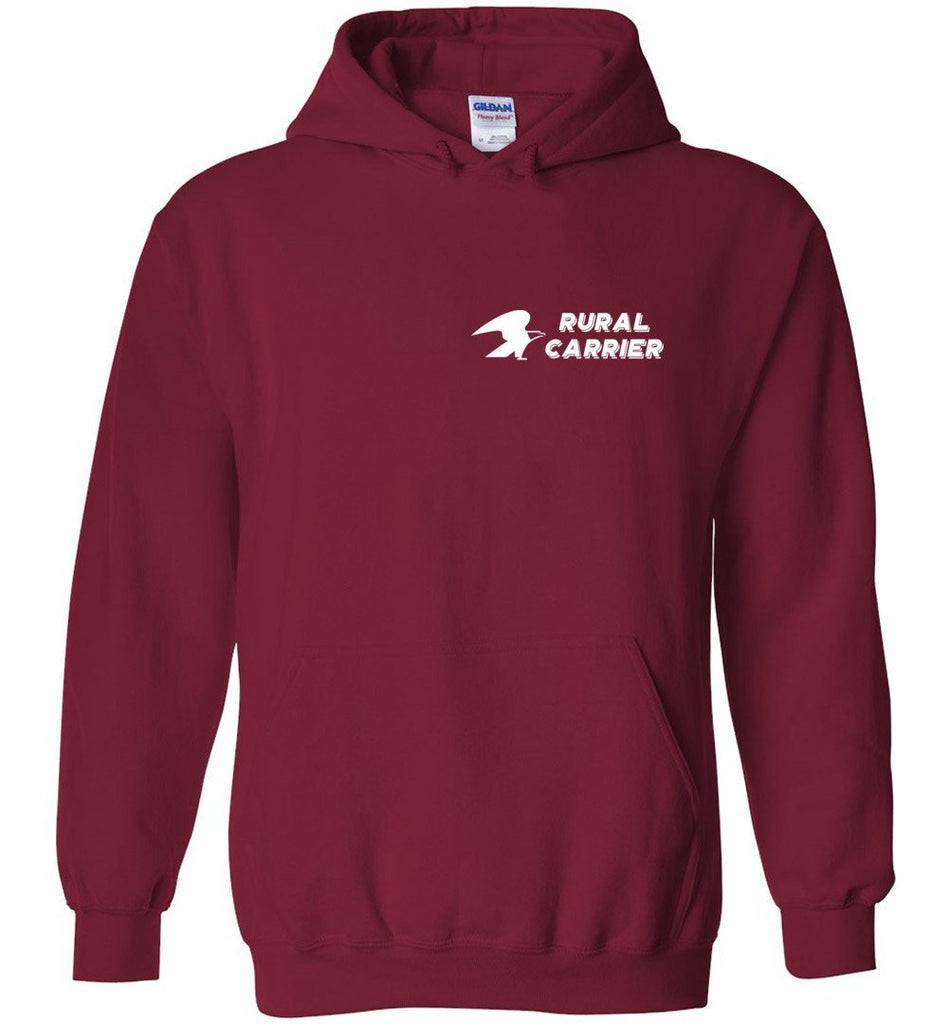Postal Worker Tees Hoodies Cardinal Red / S Rural Carrier left chest design with eagle Hoodie