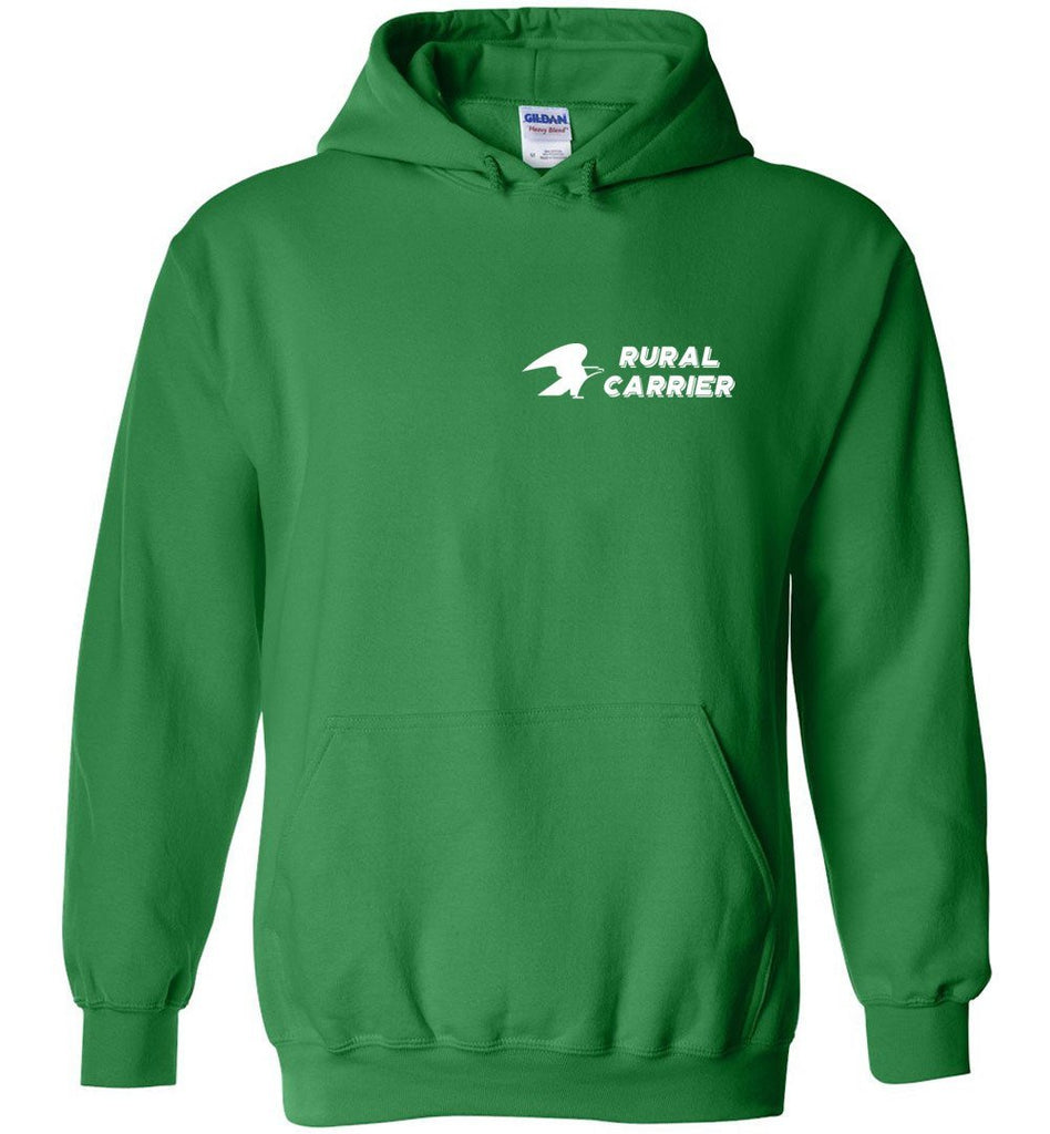 Postal Worker Tees Hoodies Irish Green / S Rural Carrier left chest design with eagle Hoodie