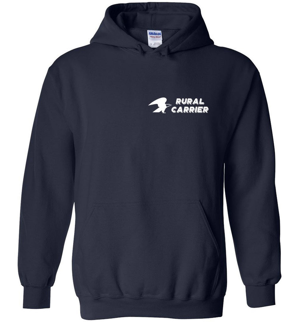 Postal Worker Tees Hoodies Navy / S Rural Carrier left chest design with eagle Hoodie