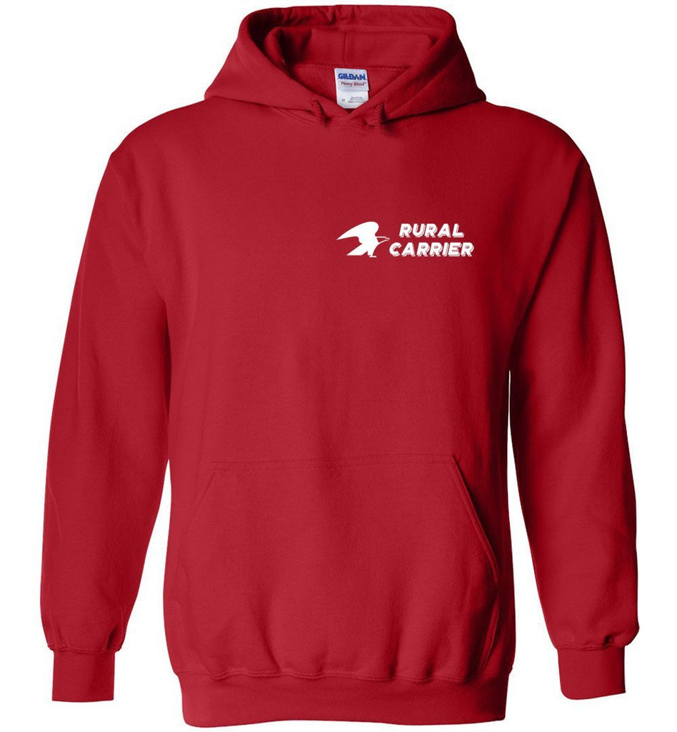 Postal Worker Tees Hoodies Red / S Rural Carrier left chest design with eagle Hoodie
