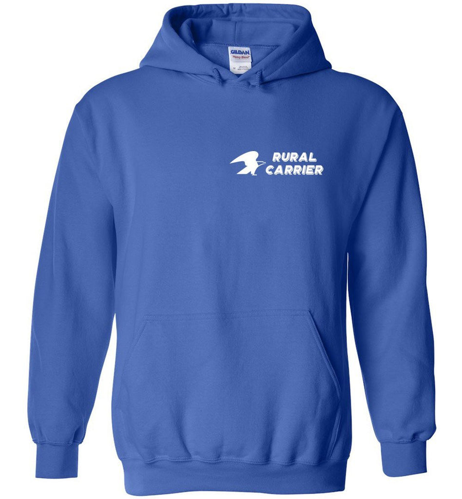 Postal Worker Tees Hoodies Royal Blue / S Rural Carrier left chest design with eagle Hoodie