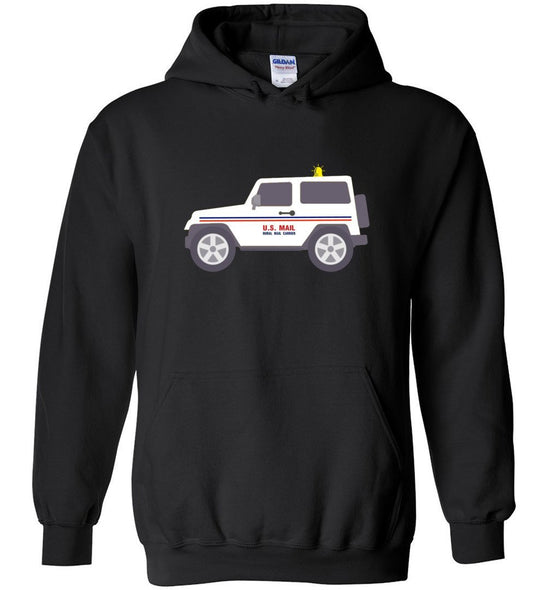 Postal Worker Tees Hoodies Black / S Rural Carrier Mail Jeep Hoodie