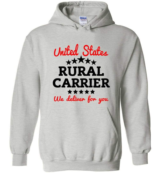 Postal Worker Tees Hoodies Ash / S Rural Carrier We deliver for you Hoodie