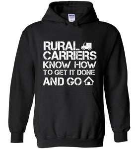 Postal Worker Tees Hoodies Black / S Rural Carriers Get the route done Hoodie