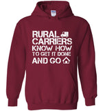 Postal Worker Tees Hoodies Cardinal Red / S Rural Carriers Get the route done Hoodie