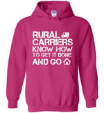 Postal Worker Tees Hoodies Heliconia / S Rural Carriers Get the route done Hoodie