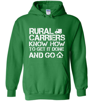 Postal Worker Tees Hoodies Irish Green / S Rural Carriers Get the route done Hoodie