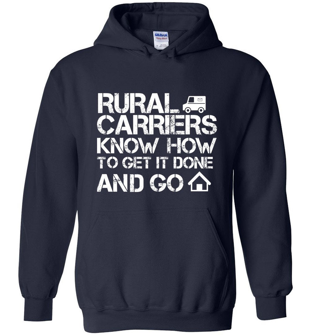 Postal Worker Tees Hoodies Navy / S Rural Carriers Get the route done Hoodie