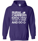 Postal Worker Tees Hoodies Purple / S Rural Carriers Get the route done Hoodie