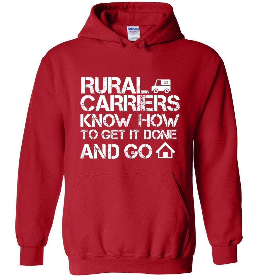 Postal Worker Tees Hoodies Red / S Rural Carriers Get the route done Hoodie