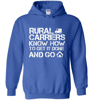 Postal Worker Tees Hoodies Royal Blue / S Rural Carriers Get the route done Hoodie