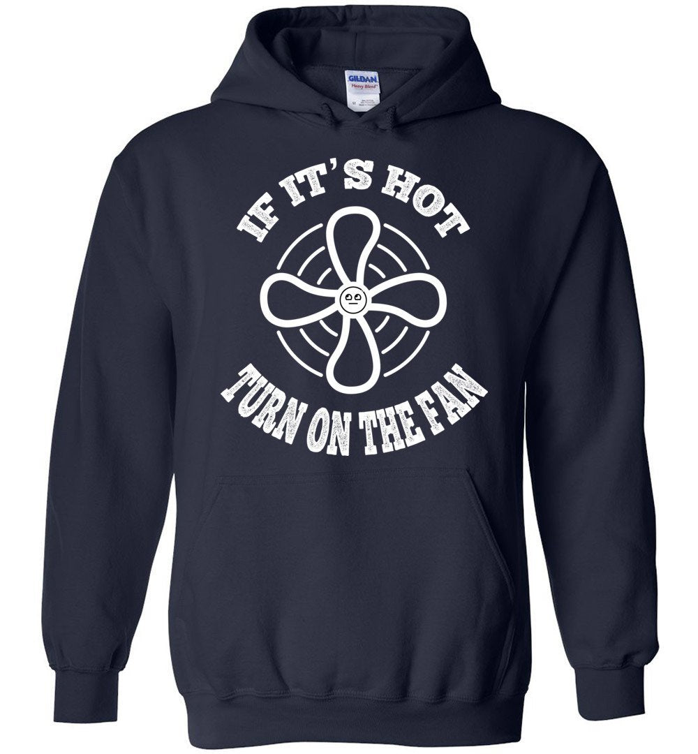 Postal Worker Tees Hoodies Navy / S Scanner message - If it's hot Hoodie