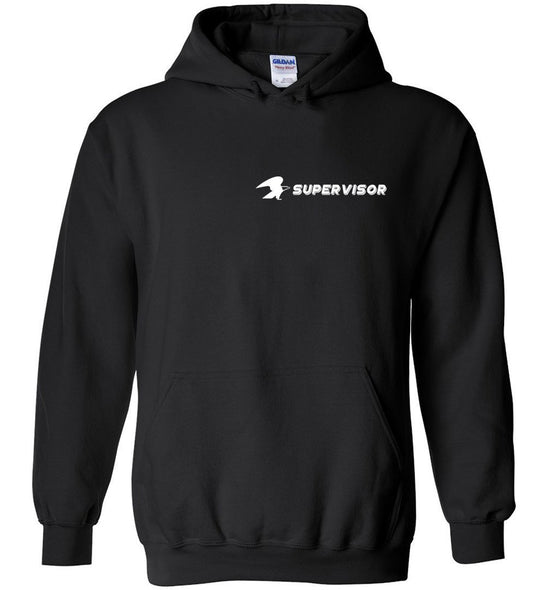 Postal Worker Tees Hoodies Black / S Supervisor left chest with eagle Hoodie