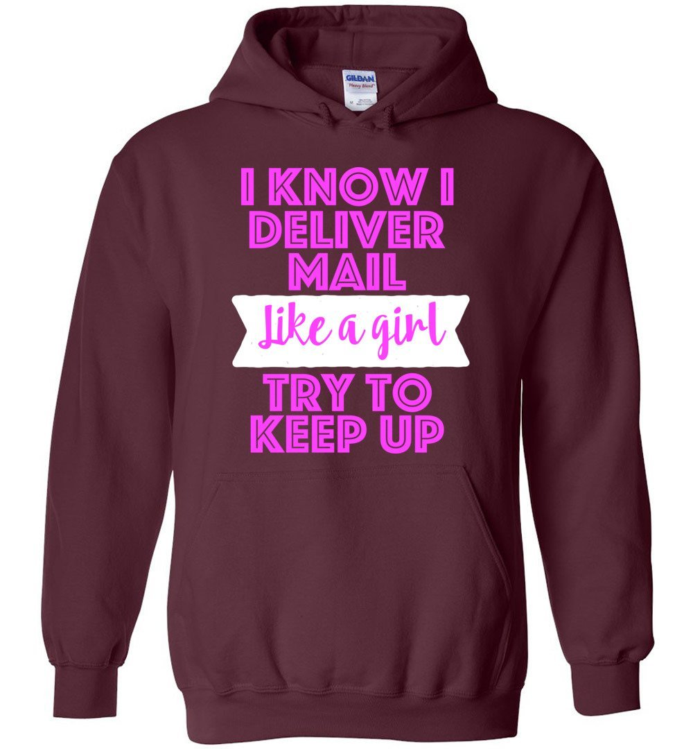Postal Worker Tees Hoodies Maroon / S Try to keep up Hoodie