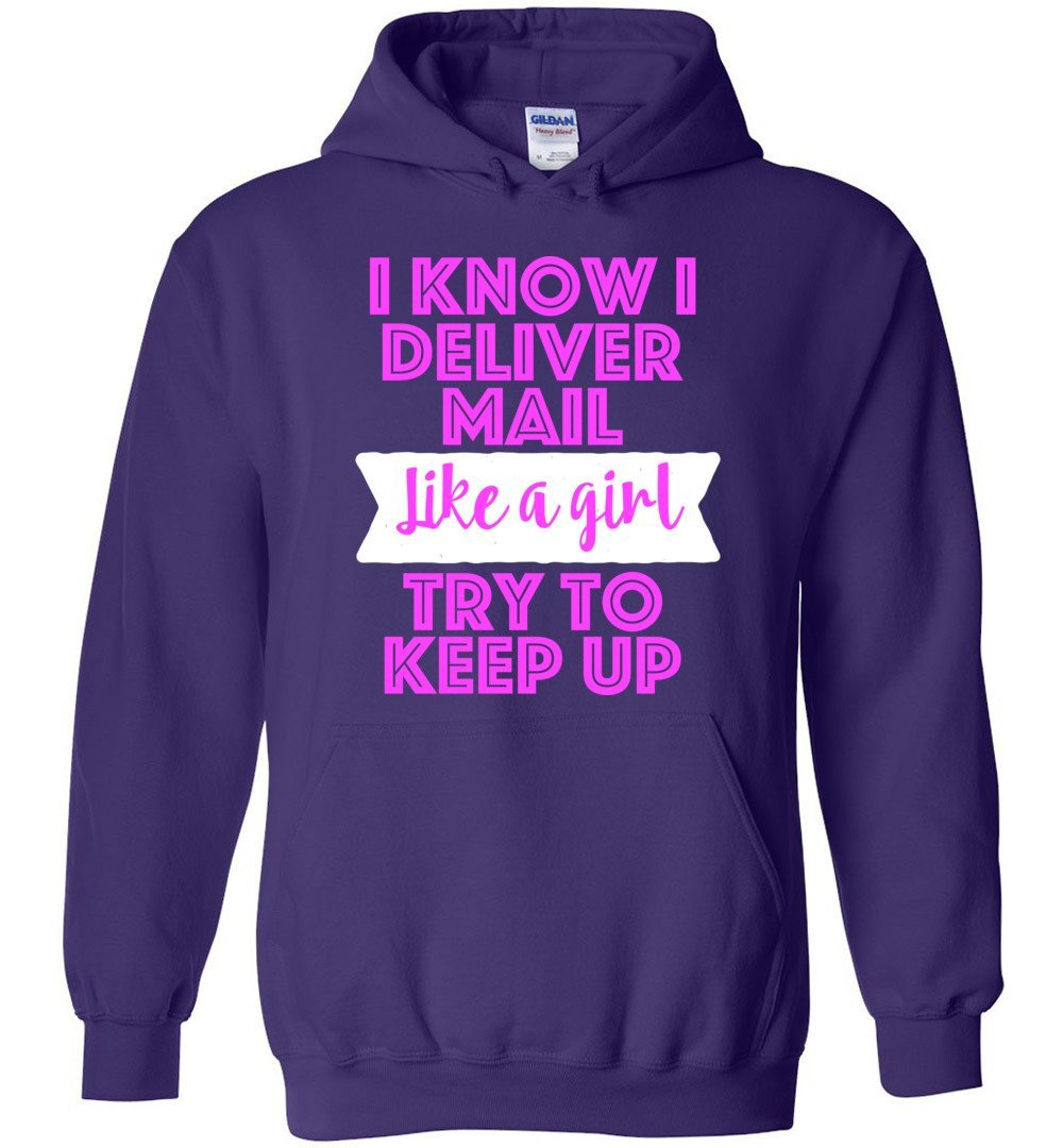 Postal Worker Tees Hoodies Purple / S Try to keep up Hoodie