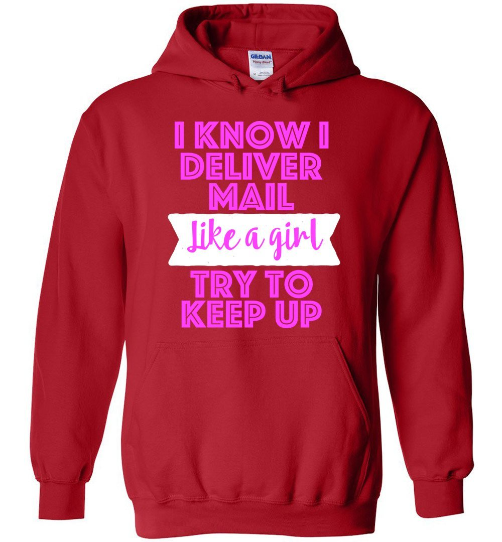 Postal Worker Tees Hoodies Red / S Try to keep up Hoodie