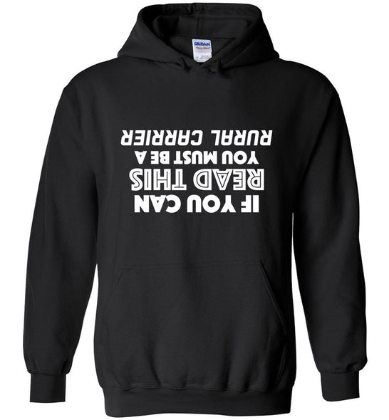 Postal Worker Tees Hoodies Black / S Upside down rural carrier Hoodie
