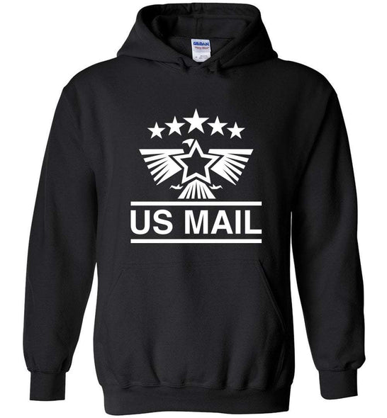 Postal Worker Tees Hoodies Black / S US Mail Eagles and stars Hoodie