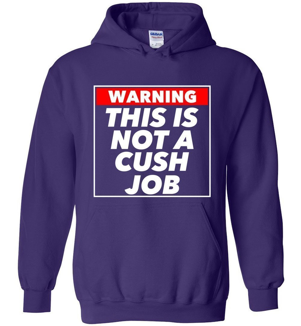 Postal Worker Tees Hoodies Purple / S Warning this is not a cush job Hoodie
