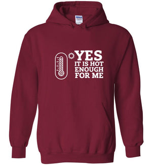 Postal Worker Tees Hoodies Cardinal Red / S Yes, it's hot enough for me Hustling Hoodie