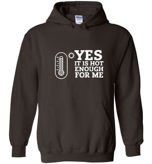 Postal Worker Tees Hoodies Dark Chocolate / S Yes, it's hot enough for me Hustling Hoodie