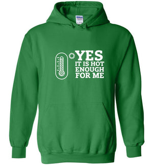 Postal Worker Tees Hoodies Irish Green / S Yes, it's hot enough for me Hustling Hoodie