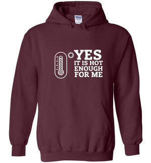 Postal Worker Tees Hoodies Maroon / S Yes, it's hot enough for me Hustling Hoodie