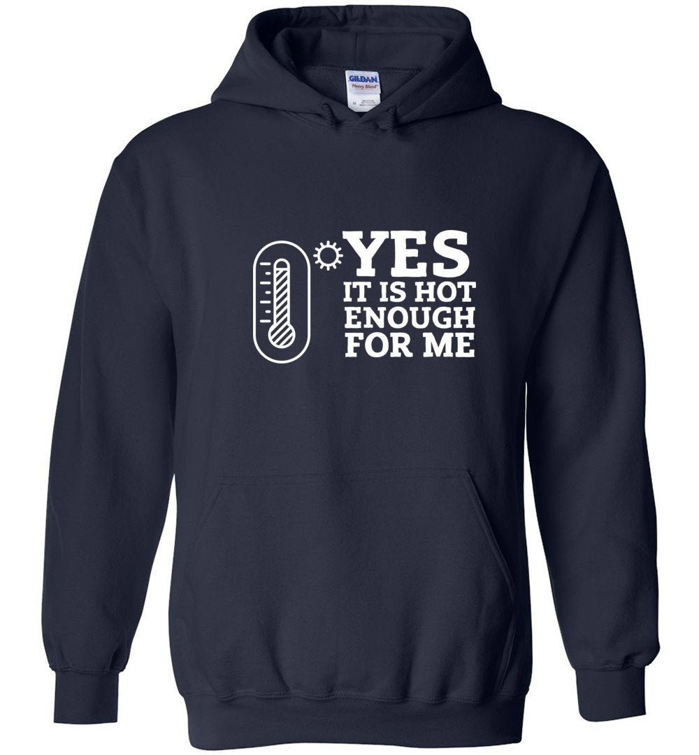 Postal Worker Tees Hoodies Navy / S Yes, it's hot enough for me Hustling Hoodie
