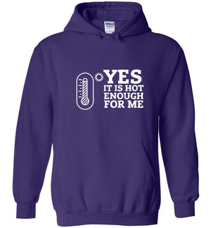 Postal Worker Tees Hoodies Purple / S Yes, it's hot enough for me Hustling Hoodie