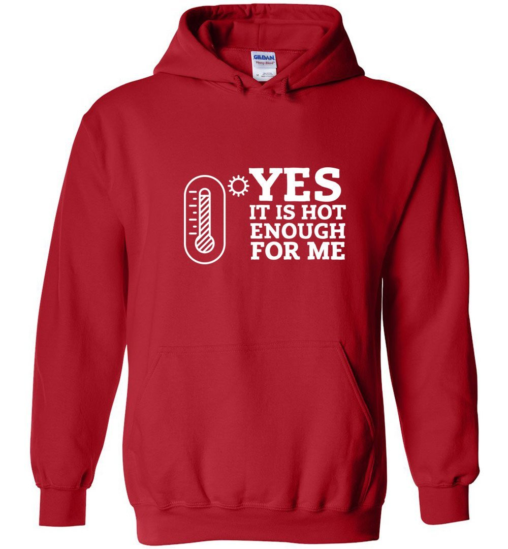 Postal Worker Tees Hoodies Red / S Yes, it's hot enough for me Hustling Hoodie