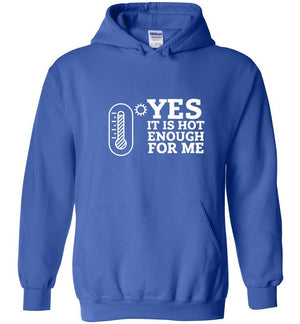 Postal Worker Tees Hoodies Royal Blue / S Yes, it's hot enough for me Hustling Hoodie