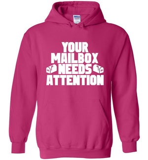 Postal Worker Tees Hoodies Heliconia / S Your mailbox needs attention - Hoodie