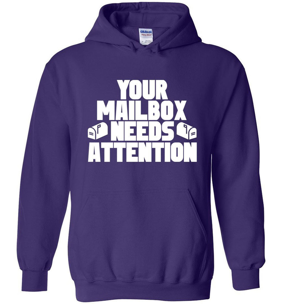 Postal Worker Tees Hoodies Purple / S Your mailbox needs attention - Hoodie